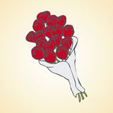 Bouquet of roses. Image of a cartoon bouquet of roses Royalty Free Stock Image