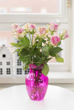 Bouquet roses in interior Royalty Free Stock Image