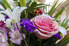 Bouquet of roses and lilies Stock Image