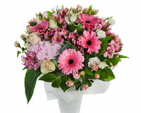 Bouquet of roses, lilies and orchids Royalty Free Stock Photography