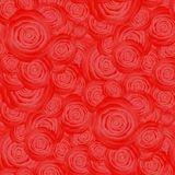 Bouquet of Roses Pattern. Fresh Floral Background Stock Images