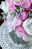 A bouquet of roses peonies Stock Photos