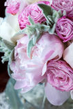 A bouquet of roses peonies Royalty Free Stock Photography