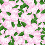 Bouquet of Roses Random Seamless Pattern. Stock Photo