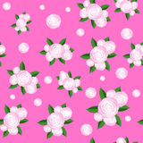 Bouquet of Roses Randon Seamless Pattern Stock Photos