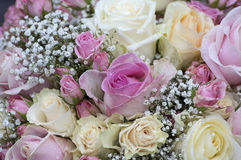 Bouquet with roses in several colors Royalty Free Stock Images
