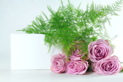 Bouquet of roses with space for text. Royalty Free Stock Photography