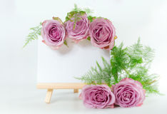 Bouquet of roses with space for text. Royalty Free Stock Image