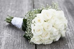 Bouquet of roses on the table royalty free stock images