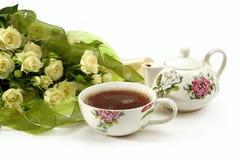 bouquet roses tea white στοκ εικόνες με δικαίωμα ελεύθερης χρήσης
