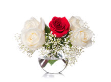Bouquet of roses in a vase Royalty Free Stock Image