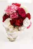 Bouquet. A bouquet of roses in a vase royalty free stock photos