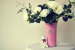 Bouquet of roses. A bouquet in a vase - home decor element stock photo