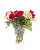 Bouquet of roses in vase Stock Image