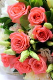 Bouquet of roses on white background Royalty Free Stock Photos