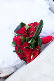 Bouquet rouge de mariage Photo libre de droits