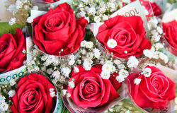 Bouquet rouge de Rose Image stock