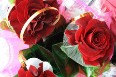 Bouquet rouge de roses Photo stock
