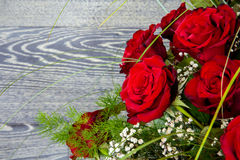 Bouquet rouge de roses Photographie stock