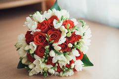Bouquet rouge et blanc Photographie stock
