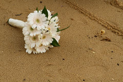 Bouquet on Sand Royalty Free Stock Images