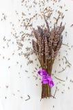 Bouquet sec de lavande Photographie stock libre de droits