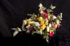 Bouquet sec des roses Photo stock
