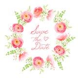 Bouquet sensible des fleurs fraîches de ressort Rose, ranunculus, péon illustration stock