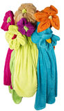 Bouquet of seven flowers, made ​​from towels different color Stock Images