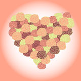 Bouquet in shape of heart Royalty Free Stock Photography