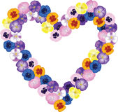 Bouquet shaped heart Stock Photography