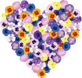 Bouquet shaped heart Stock Images