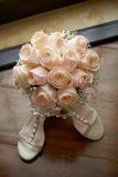 Bouquet with shoes a Stock Image