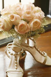 Bouquet with shoes Royalty Free Stock Photo