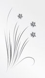 A bouquet of silver flowers. Vector illustration stock illustration