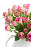 Bouquet of small pink roses Royalty Free Stock Photo