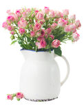 Bouquet of small pink roses Royalty Free Stock Photography