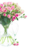 Bouquet of small pink roses Royalty Free Stock Images