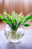 A bouquet of small white flower lily of the valley Stock Photography