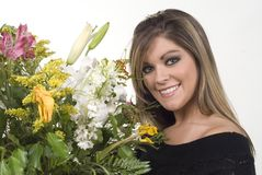 Bouquet smile Royalty Free Stock Photo