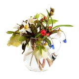 Bouquet of snowdrops in a glass jug Royalty Free Stock Images