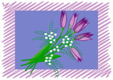 A bouquet of snowdrops, a postcard. Spring bouquet of snowdrops, bright postcard Royalty Free Stock Photos