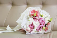 Bouquet on the sofa Royalty Free Stock Image