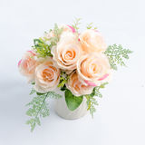 A bouquet of soft pink on a white background. Royalty Free Stock Photography