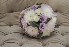 Wedding bouquet of soft muted colors Stock Image