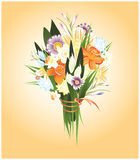 bouquet of spring flowers vector illustration