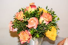 Bouquet of spring flowers for symbol. Spring flowers bouquet for emotions stock image