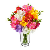 Bouquet of spring flowers in vase Stock Photos