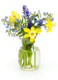 Bouquet of spring flowers on white Royalty Free Stock Photo