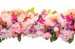 Bouquet of spring flowers on a white background Stock Images